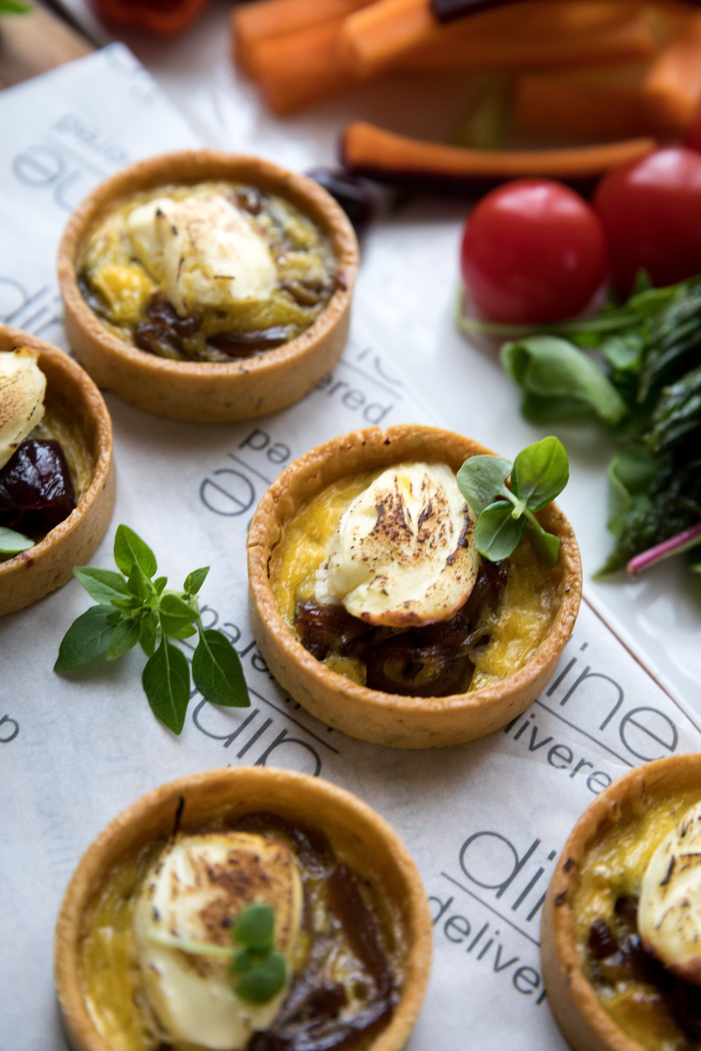 'Goats cheese & caramelised onion tarts were a winner' Amy, We are Vista